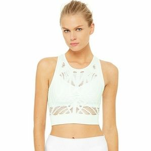 Alo yoga vixen fitted crop tank Marine L